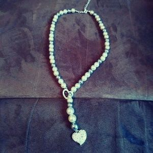 Pearls & Hearts Necklace
